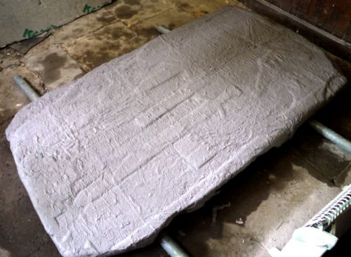 Medieval Stone poulticed in the East Church, Cromarty