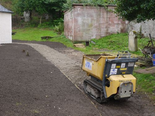 path making at the East Church, Cromarty