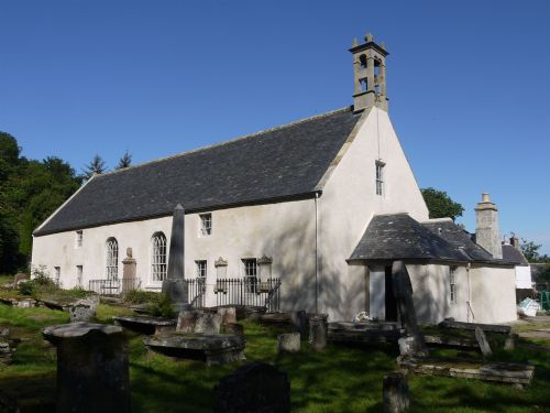 East Church, Cromarty with new harl