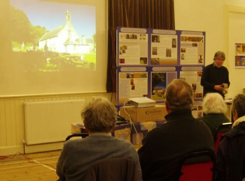 East Church slides and interpretive boards at the Cromarty History Society