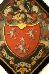 George Ross funeral hatchment: East (Lairds) Loft
