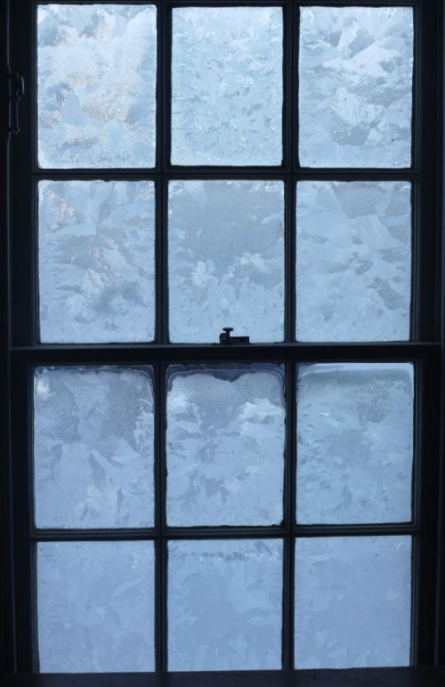 frosted windows in the East Church, Cromarty